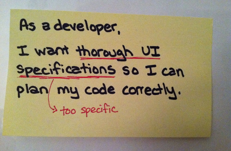 As a developer, I want thorough UI specifications so I can plan my code correctly.
